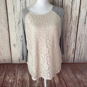 Market and spruce lace front top size XL